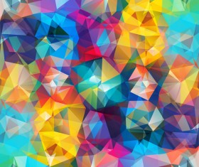 Colorful geometric polygonal background vector 11