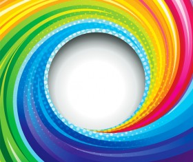 Colorful swirl abstract background vector 01