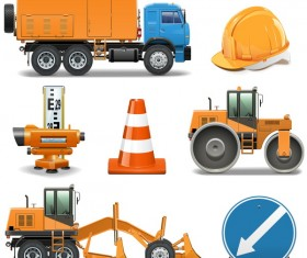Construction machines vectors illustration 02