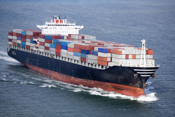 Container freight ship Stock Photo 01