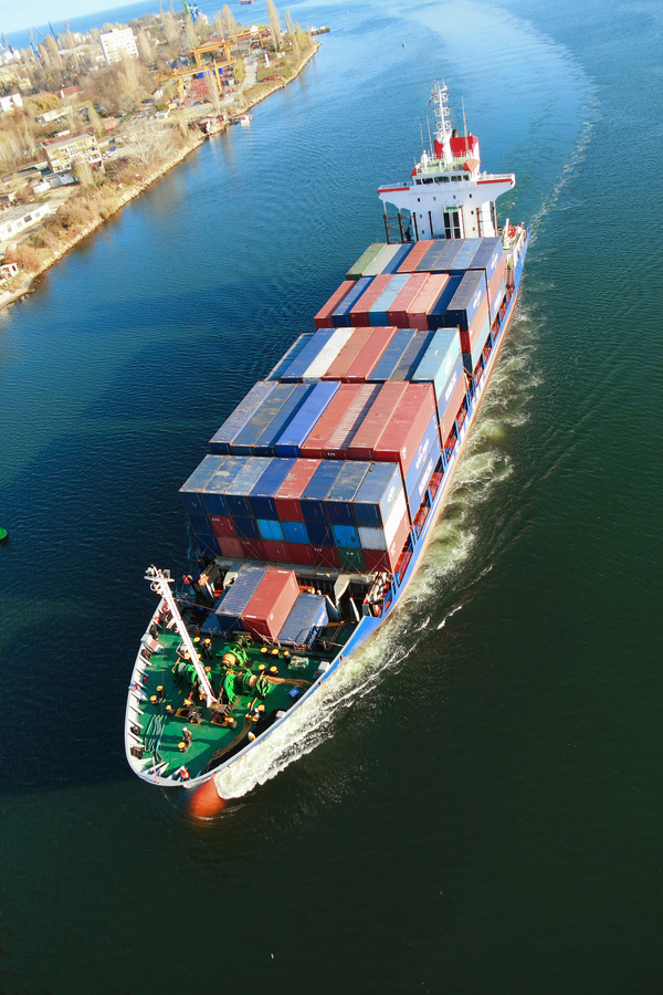 Container freight ship Stock Photo 04