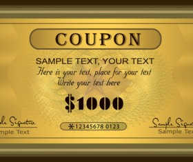 Coupon golden template vectors 01