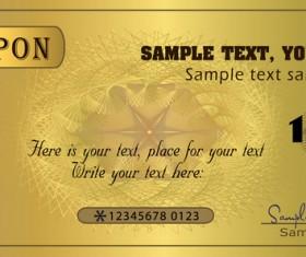 Coupon golden template vectors 02