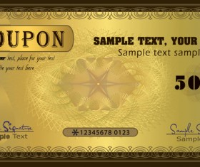 Coupon golden template vectors 03