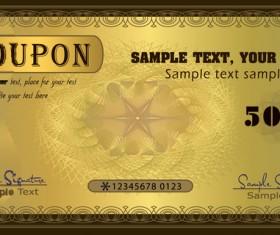 Coupon golden template vectors 03