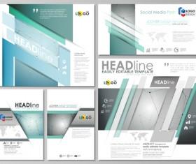 Cover deisng templates creative vector set