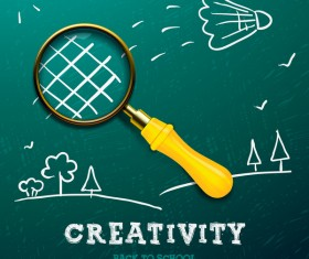 Creative back to school background vector 01