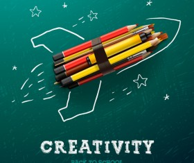 Creative back to school background vector 02