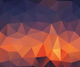 Creative polygonal backgrounds abstract vector 01