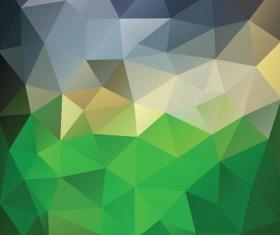 Creative polygonal backgrounds abstract vector 02