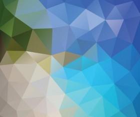 Creative polygonal backgrounds abstract vector 03