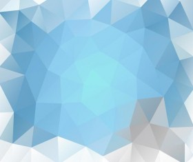 Creative polygonal backgrounds abstract vector 06