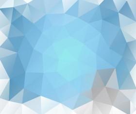 Creative polygonal backgrounds abstract vector 06