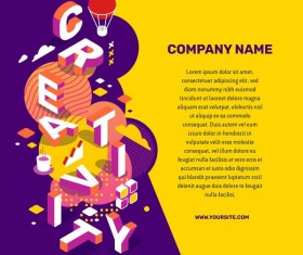 Creativity business words illustration vector