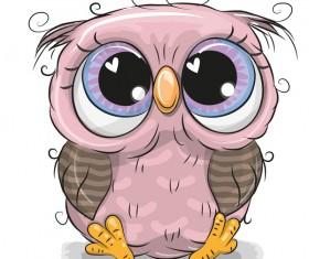 Cute cartoon owl vectors design 02