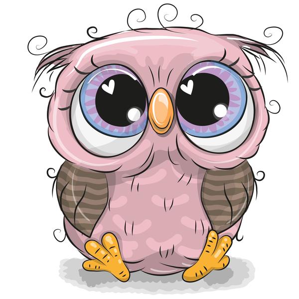 Cute cartoon owl vectors design 02 free download