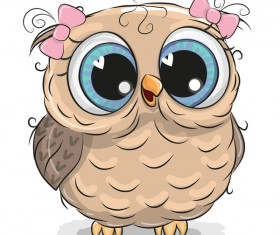 Cute cartoon owl vectors design 03