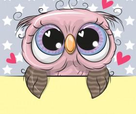 Cute cartoon owl vectors design 04
