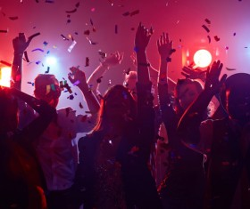 Dancing Friends on Lights Stock Photo 12