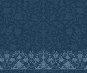 Dark blue decor pattern vector design 01