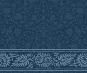 Dark blue decor pattern vector design 02