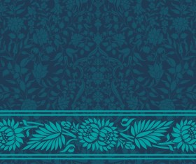 Dark blue decor pattern vector design 03