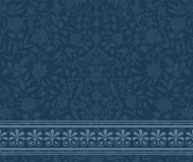 Dark blue decor pattern vector design 04