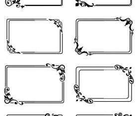 Decor frame retro vectors 01
