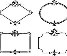 Decor frame retro vectors 02