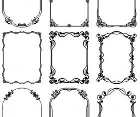 Decor frame retro vectors 03