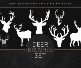 Deer Photoshop Brushes