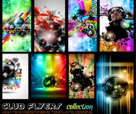 Disco club flyer template vector 01