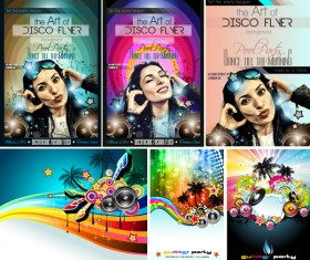 Disco club flyer template vector 03