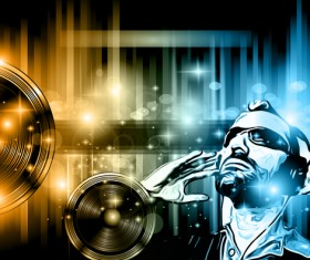 Disco dance party flyer template vectors 02