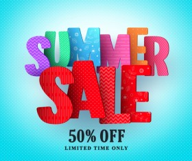 Discount sale summer background vector