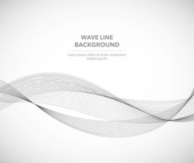 Elegant wavy line background illustration vector 01