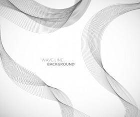 Elegant wavy line background illustration vector 02