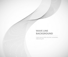 Elegant wavy line background illustration vector 04