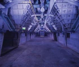 Empty steel architecture inside Stock Photo