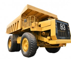 Engineering loading and unloading vehicle Stock Photo