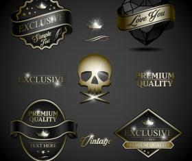 Exclusive vintage logos vector