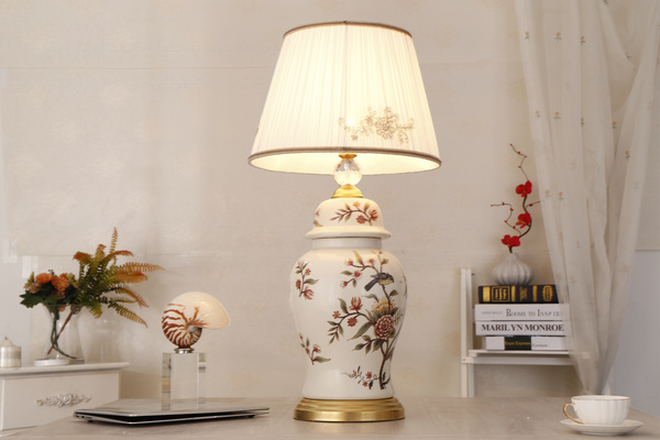 Exquisite and beautiful table lamp Stock Photo