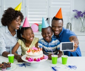 Family birthday party Stock Photo