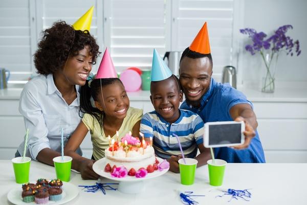 Family birthday party Stock Photo