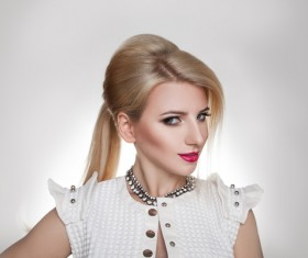 Fashion makeup beautiful woman posing Stock Photo 06