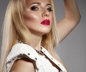 Fashion makeup beautiful woman posing Stock Photo 07