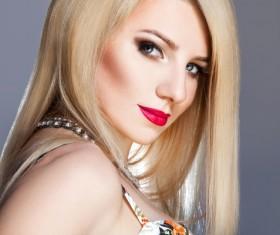 Fashion makeup beautiful woman posing Stock Photo 08