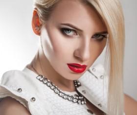 Fashion makeup beautiful woman posing Stock Photo 09