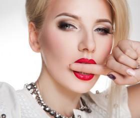 Fashion makeup beautiful woman posing Stock Photo 10