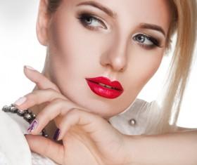 Fashion makeup beautiful woman posing Stock Photo 11